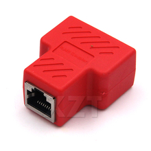 Newest Colorful Copper Core 1 To 2 RJ45 Connector Network Cable Splitter Extender Plug Adapter for PC Laptop