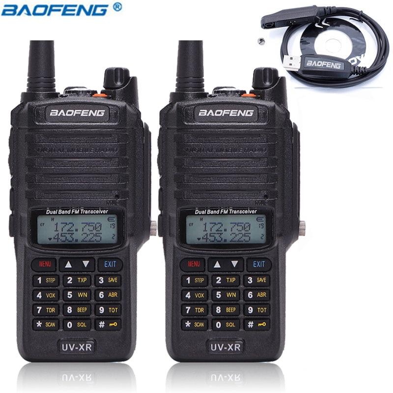 2pcs Baofeng UV XR 10W 4800Mah Battery IP67 Waterproof Radio Tactical Antenna Handheld 10KM Powerful Walkie
