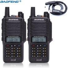 2 stuks Baofeng UV XR 10 W 4800 Mah Batterij IP67 Waterdichte Radio & Tactical Antenne Handheld 10 KM Krachtige Walkie talkie + Programma Kabel
