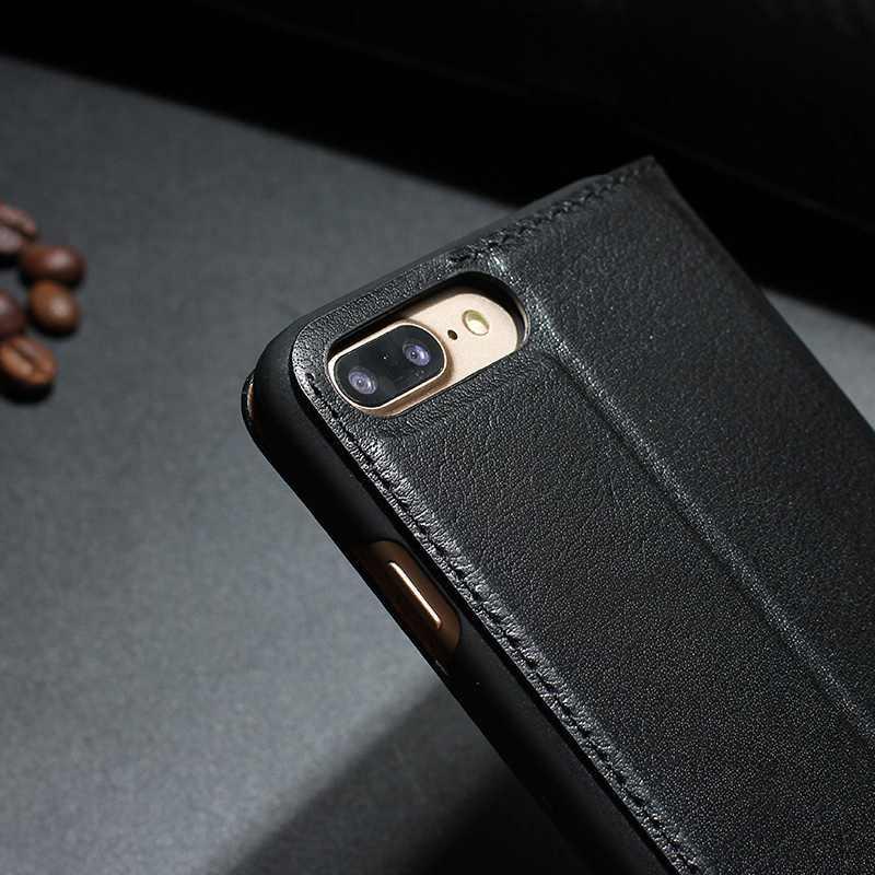 MAKEULIKE Kulit Asli Kasus Untuk Iphone 7 Ditambah Mewah Magnetic - Aksesori dan suku cadang ponsel - Foto 6