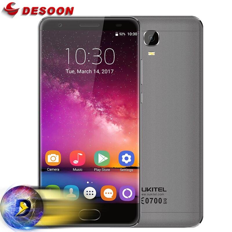 Цена за Оригинал K6000 OUKITEL ПЛЮС 5.5 Дюймов FHD MTK6750T Octa Ядро 16MP Смартфон 4 ГБ RAM 64 ГБ ROM 12 V/2A 6080 МАЧ батареи Мобильного телефон