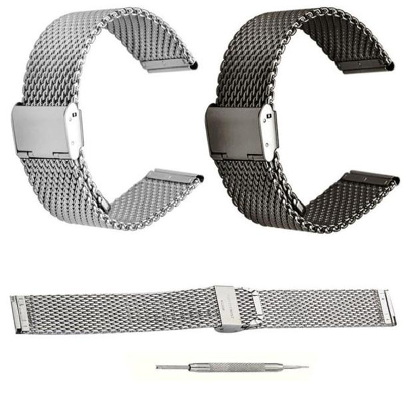 CLAUDIA Excellent Quality 20mm Watch Band Strap Milanese Loop Strap Stainless Steel Band Magnetic Bracelet for