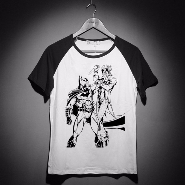 Batman Arkham Knight 4 Items Classic Bat Teeth Logo Baseball Style T Shirt Summer Cool Tee