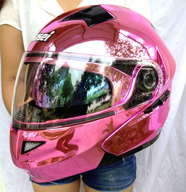 Masei Pink Women Motorcycle Racing Helmets Top Abs Open -6612