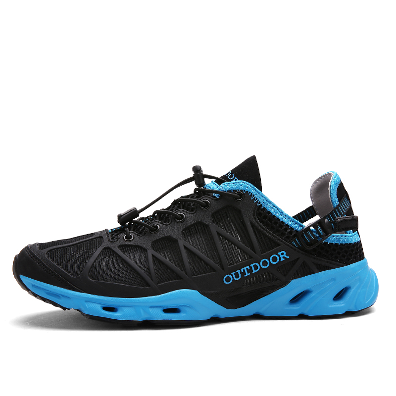 Outdoor Men Sneakers Lightweight Colorful Elastic Running Shoes For Women High Quality Breathable Mesh Sport Shoes