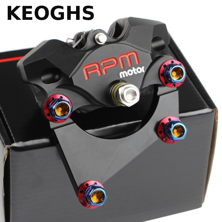 Keoghs Rpm 2 Piston Brake Caliper With Adapter For Scooter Xiaoniu N1s Rear Brake Replace keoghs real adelin 260mm floating brake disc high quality for yamaha scooter cygnus modify