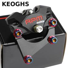 Best price Keoghs Rpm 2 Piston Brake Caliper With Adapter For Scooter Xiaoniu N1s Rear Brake Replace