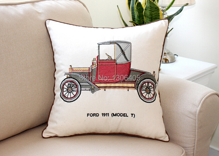 Cushion cover embroidered throw personalized pillow case for Personalized home decor
