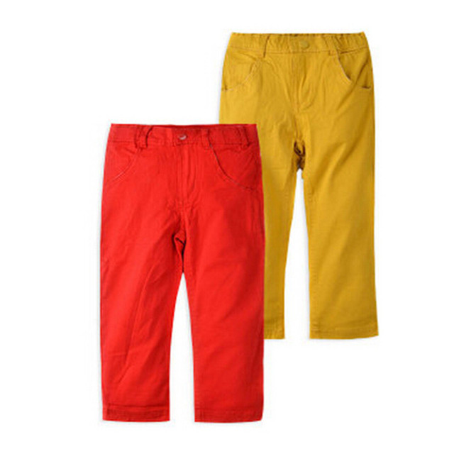 Baby Boys Jeans Children Spring Autumn Pants Children Red Yellow Trousers New Brand Fashion Jeans Top Quality Kids Clothing