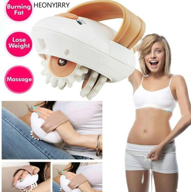 3D Electric Loss Weight Full Body Face Massager Roller Anti-cellulite Massaging Slimmer Device Fat Burner Machine Face Lift Tool