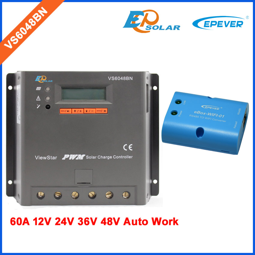 PWM EPEVER VS6048BN 60A 60amp solar panel system controller Charging use WIFI BOX Android phone APP connect блуза paccio paccio pa060ewbgog1
