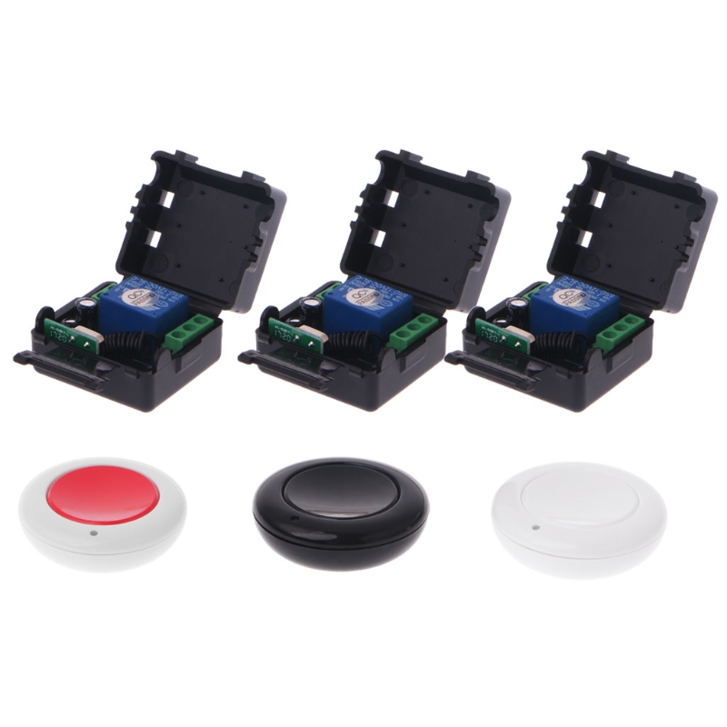 ANENG DC 9V 12V 24V 10A Relay 1CH Wireless Remote Control Switch Receiver + Transmitter