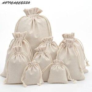 50pcs Handmade Drawstring Bag Travel Dra