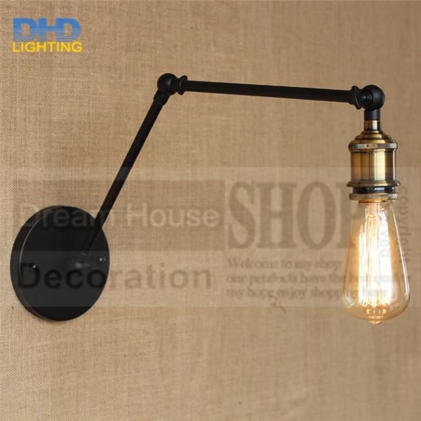 ФОТО Free shipping American indoor decorative wall lamp lamp bracket simple iron bar retro coffee aisle wall lamp restaurant industry