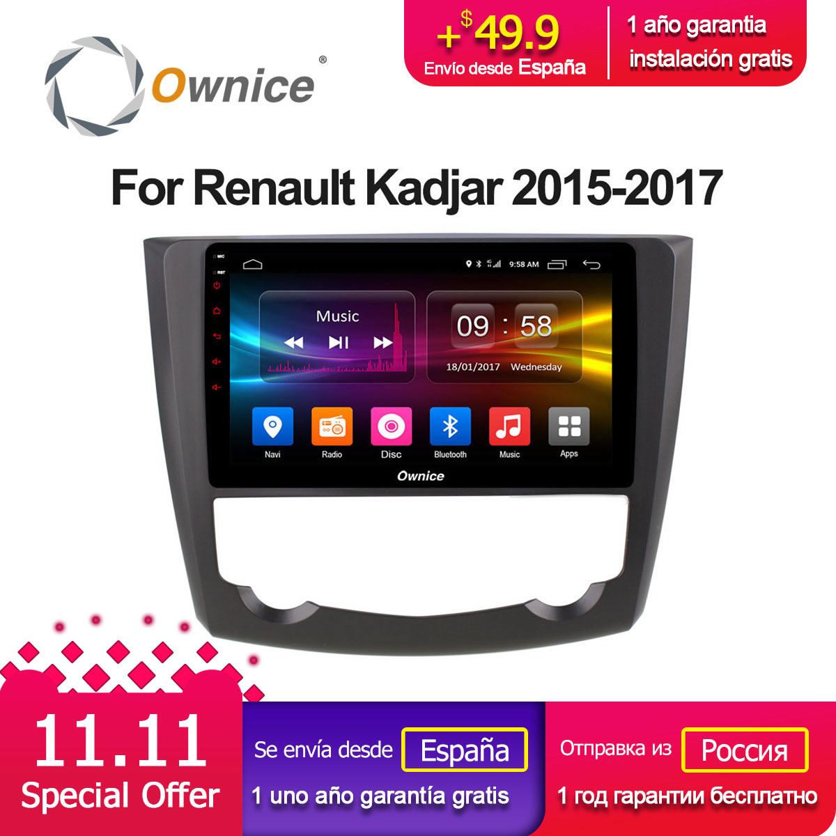 Renault Kadjar 2015 2017 Remote Start Wiring Diagrams Free Navigation Diagram Description Ownice C500 G10 Octa Re Android 81 32g Rom Car Dvd Player Gps Audio For Fullbrochure2016