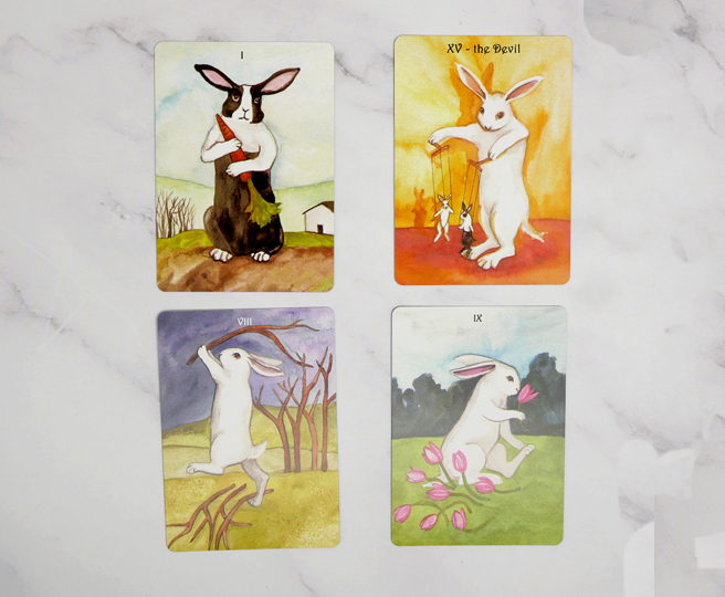 High Quality 100% New Rabbit Tarot cards set board game card - 2