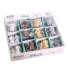 36pcs/lot Lovely Cartoon Dog  Animal Mini 3D Eraser For Kids Stationery Student Gifts