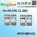 4PCS For Canon PG37 CL38 PG-37 CL-38 Ink Cartridges PG 37 CL 38 IP 1800 / 1900 / 2500 / 2580 / 2600 MP 140 / 160 / 190 /210 /220