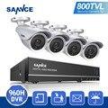 SANNCE 800TVL 8-КАНАЛЬНЫЙ HD 960 H HDMI DVR KIT Системы ВИДЕОНАБЛЮДЕНИЯ Безопасности 4 ШТ. ИК Открытый 800TVL Камеры Безопасности Видео Surveillance kit