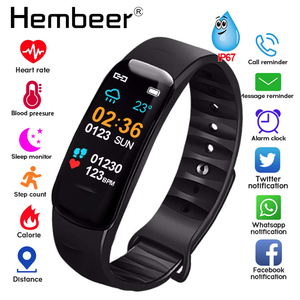 Image 1 - Health Bracelet Heart Rate Monitor Blood Pressure Measurement Smart Band Fitness Tracker Wristband for iPhone xiaomi pk fitbits