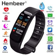 健康ブレスレット心拍数モニター血圧測定スマートバンドフィットネストラッカーリストバンド iphone xiaomi pk fitbits