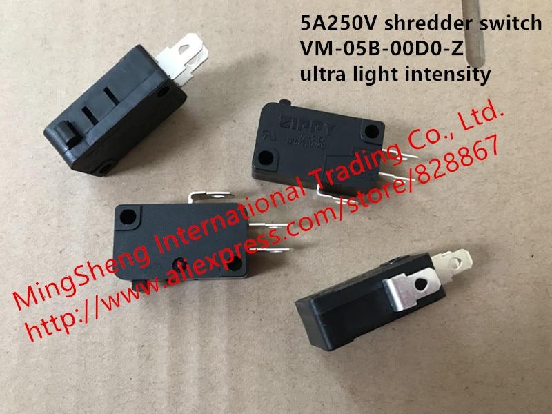 Original new 100% Taiwan switch 5A250V UL certification shredder switch VM-05B-00D0-Z ultra light intensity