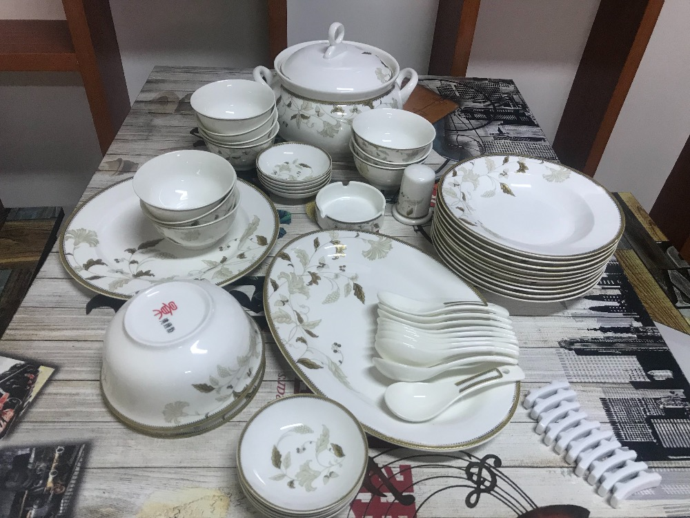 58pcs Porcelain Tableware Set /china Bone Dinner Set Tableware / Dinnerware Set/china Bone Tableware Set From Jingdezhen