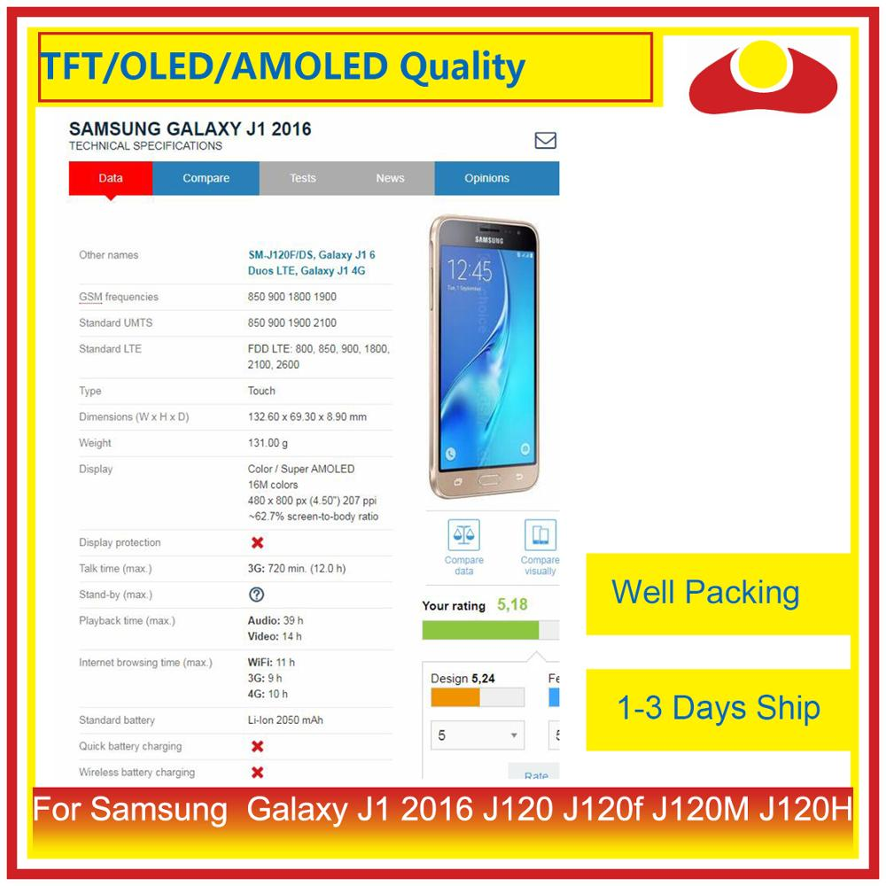 """Image 3 - ORIGINAL 4.5"""" For Samsung Galaxy J1 2016 J120 J120f J120M J120H LCD Display With Touch Screen Digitizer Panel Assembly Complete-in Mobile Phone LCD Screens from Cellphones & Telecommunications"""