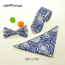 CHCUM Cotton Neck Tie Neck Tie Set Chinese Style Blue And White Ties For Men 2017 Dress Collocation For Wedding Party Tie Brand