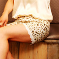 new pattern silk underpants leopard print   single-shorts pants  shorts female legging-b12