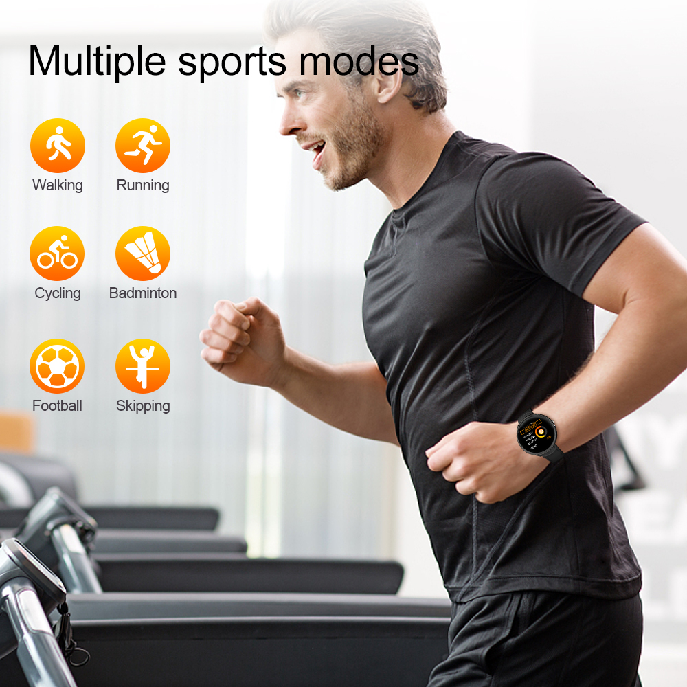 Fentorn V12 Full touch screen Smart Watch Blood Pressure Oxygen Heart Rate Monitor Fitness bracelet Waterproof Smartwatch UP V11
