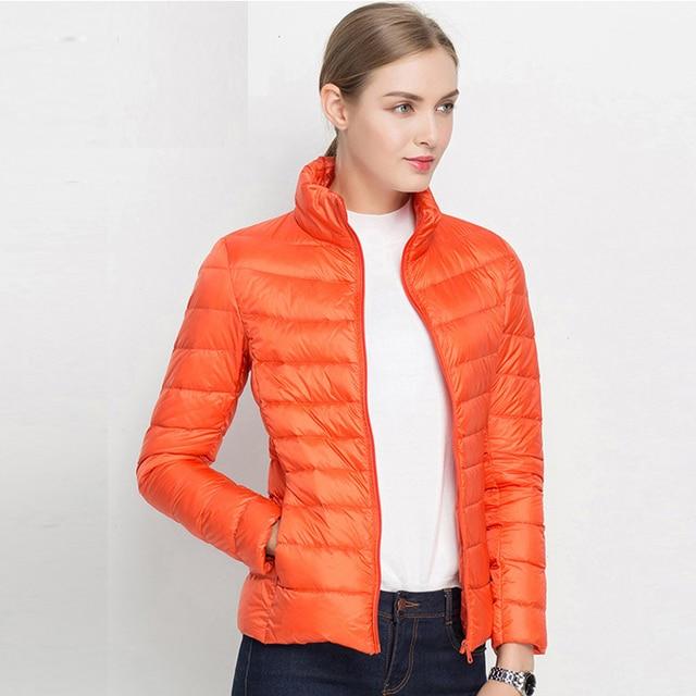 FTLZZ New Women 90% Ultra Light White Duck Down Short Jacket Spring Winter Jackets Puffer Jacket Portable Windproof Down Coat 4