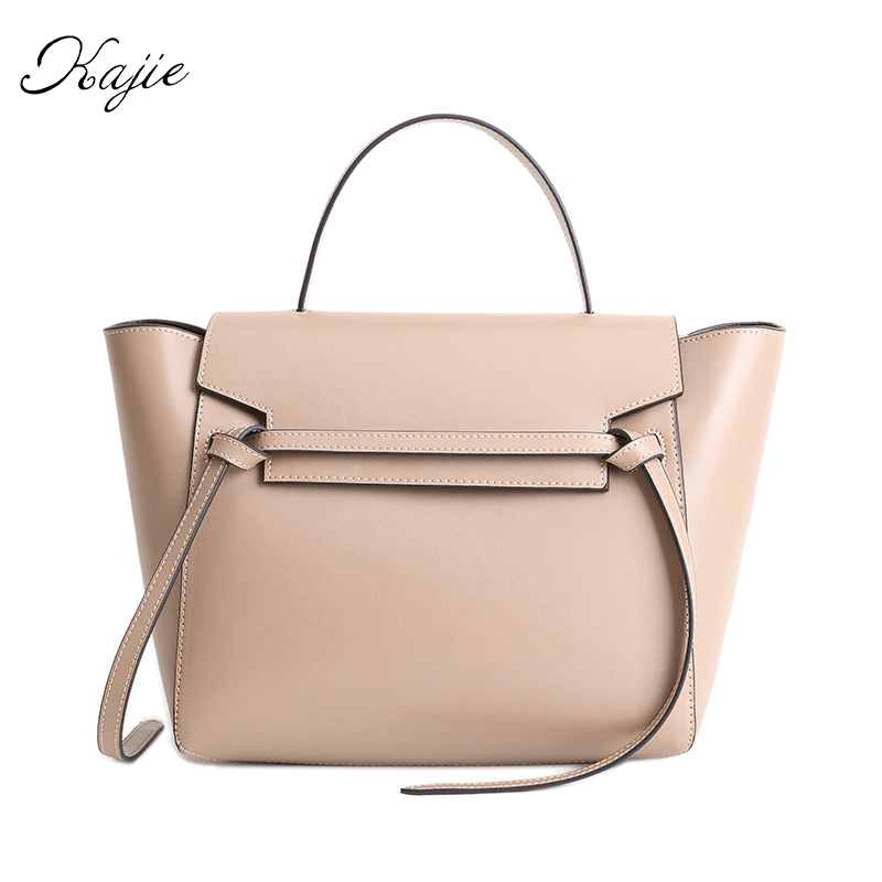 Kajie New Trapeze Catfish Luxury Handbags Women Genuine Leather Shoulder Bag Ladies Hand Bags Designer Famous Brands Tote Bag real genuine leather women s handbags luxury handbags women bags designer famous brands tote bag high quality ladies hand bags