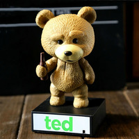 Cute 6 Talking Ted Teddy Bear Wobbler Bobblehead Doll PVC Figure Kids Toy Christmas Gift Collectible