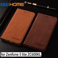 For Asus Zenfone 5 Lite ZC600KL X017D Case Flip Matte Genuine Leather Soft TPU Back Cover