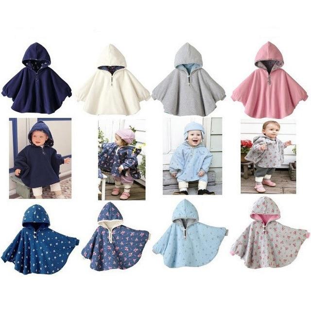 Новый 2016 Мода Combi Детские Пальто Мальчики Девочки Костюмы, Пиджаки Руно Плащ Перемычки Пончо Кабо Мантия детская Clothing V49