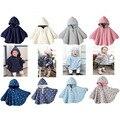 Nuevo 2016 moda abrigos niños niñas outwear smocks combi bebé fleece jumpers manto de niños clothing poncho cabo v49