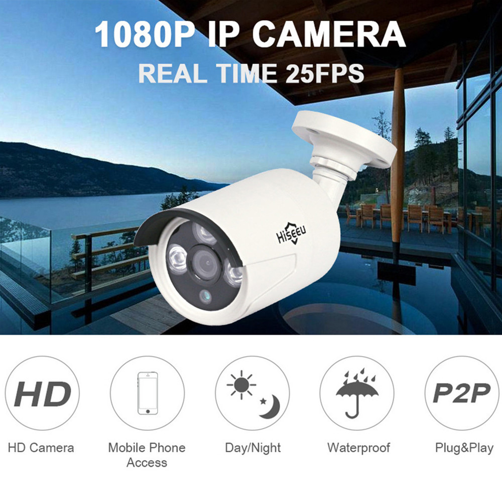 Mini Bullet WDR IP Camera Outdoor Camera IR CUT Night Vision HD POE 1080P 2.0MP ONVIF 2.0 Waterproof Remote IP66 HB612 Hiseeu 41 hd 1 3mp ip camera ptz bullet 4x zoom 960p hd project night vision outdoor waterproof ircut onvif p2p onvif poe hiseeu