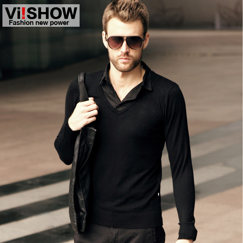 Black Shirt Sweater - Greek T Shirts