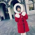 Princesa lolita doce BOBON21 camisola estudante Natal Ano Novo cabelo raposa vermelha casaco de Lã C1434