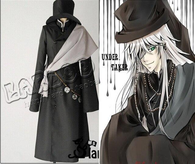 Black Butler Undertaker Death Suit Anime Disfraces Vestidos Cosplay Costume For Women 3 In1 Wind Coat