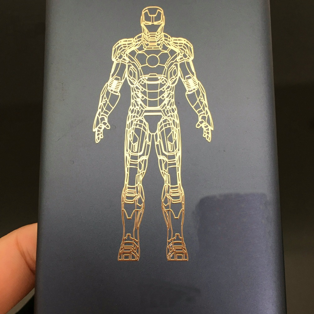 New Arrived Huge Iron Man Metal Stickers Luxury Phone Stickers Laptop Car DIY Decal Stickers