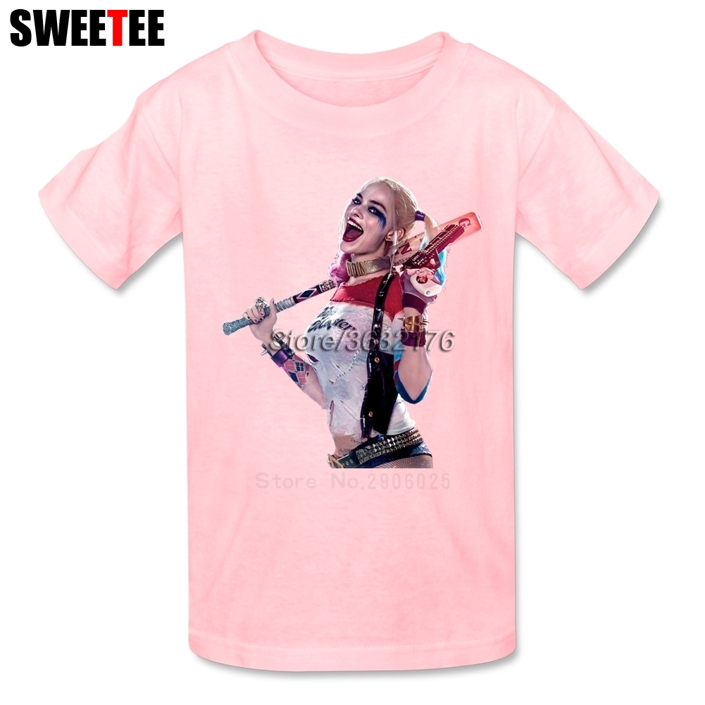 Suicide Squad Boy Girl T Shirt Baby Infant Cotton O Neck Kid Tshirt childrens Teeshirt 2018 Harley Quinn T-shirt For Toddler