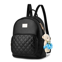 2017 New Women Leather Backpacks Students School Bags For Girls Students Teenagers Travel Rucksack Mochila Candy