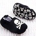 Infant Baby Girl Boy Zapatos ocasionales Del Cráneo Del Pirata Impreso de Algodón Inferior Suave Zapatos del Pesebre