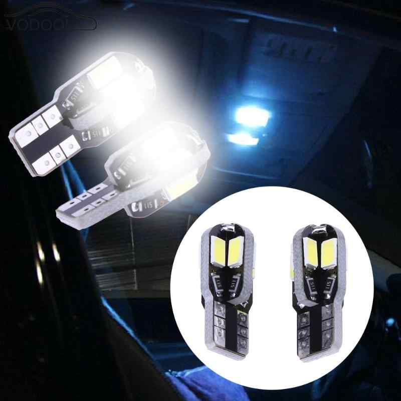 2Pcs T10 8SMD 5730 Car Interior Light Automobiles Roof Reading Lamp Taillight Auto Light-emitting Diode Fog Light Bulb 12V