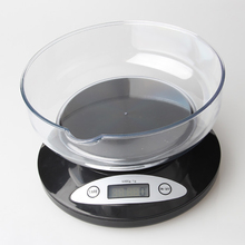 ميزان رقمي LCD ميزان المطبخ ميزان إليكتروني الطرود الغذاء الأوزان التوازن للمطبخ مع وعاء (5000g x 1g)