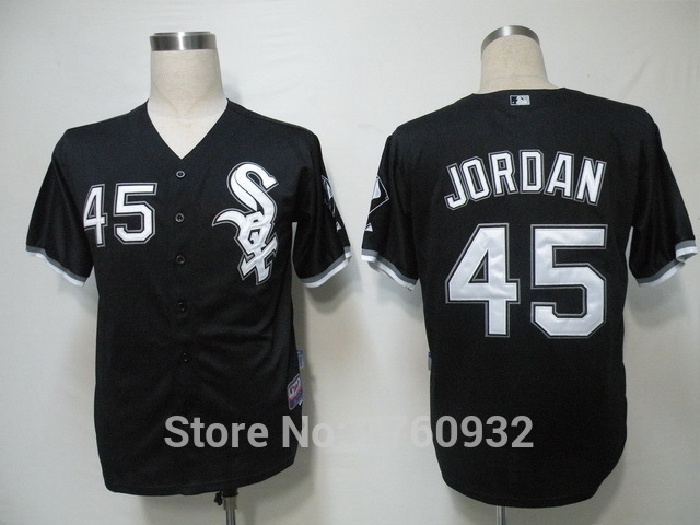 213c98eb6ea3 ... official store baseball jersey chicago white sox 45 michael jordan  jersey black cool base 345a5 37c8e