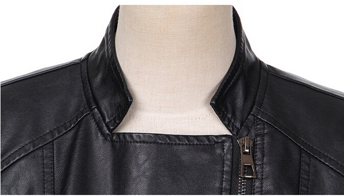 The New European and American Women s Fashion Leather Short Jacket Slim Women s Leather Jacket Motorcycle PU Leather