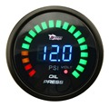 "2""52MM Car Auto LED Analog Digital Oil Pressure Press Gauge Meter 0-120PSI W Sensor"